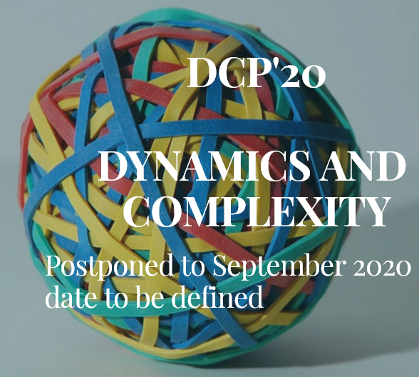 WORKSHOP DCP'20 – DYNAMICS AND COMPLEXITY Postponed to 2021 date to be defined